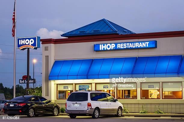 IHOP restaurant exterior at night