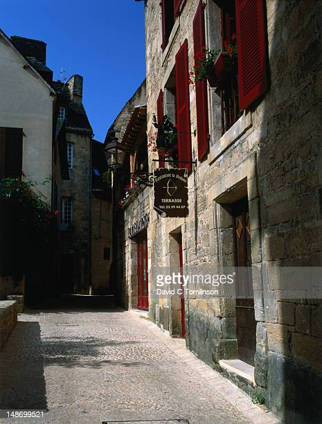 Restaurant facade in the Dordogne.