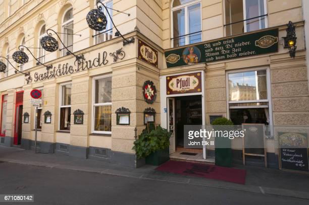Restaurant facade in Vienna