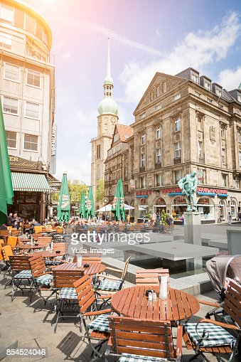 Restaurant garden in Dortmund, Germany