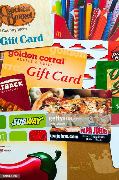 restaurant gift cards - olive garden stock photos and pictures