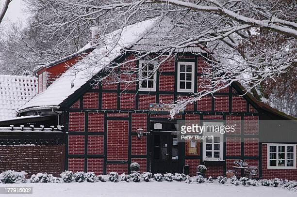 """Restaurant """"Hammehütte"""", Neu Helgoland, Worpswede , Teufelsmoor, Niedersachsen, Deutschland, Europa, Künstlerkolonie, Künstlerdorf, Winter, Schnee,..."""