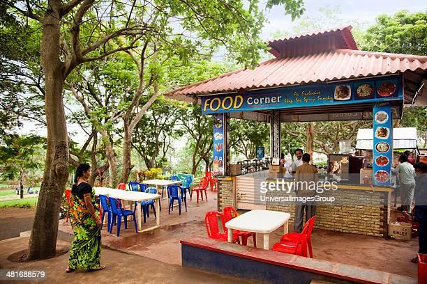 Restaurant in a park, Kailasagiri Park, Vishakhapatnam, Andhra Pradesh, India.