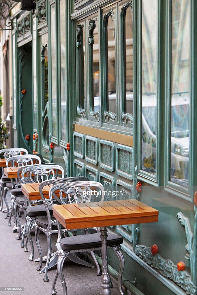 Restaurant In Art Nouveau Style, Paris, Saint Germain, France : Stock Photo