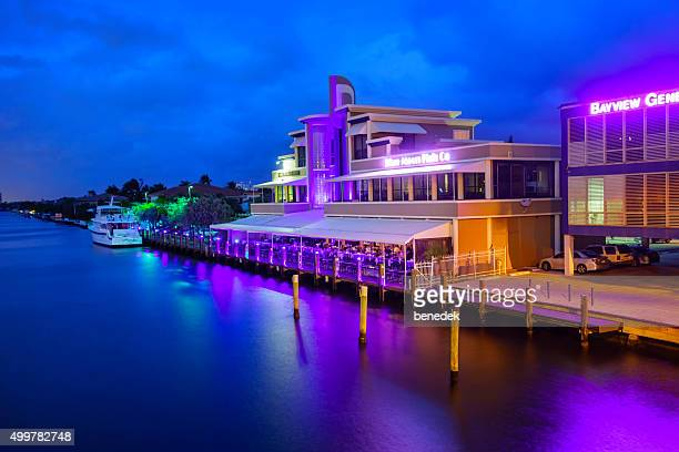Restaurant in Fort Lauderdale Florida USA in the Evening