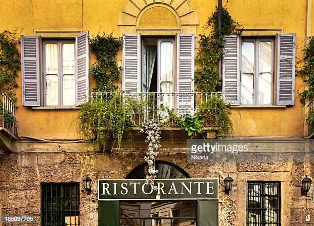 restaurant in italy - milan stock pictures, royalty-free photos & images