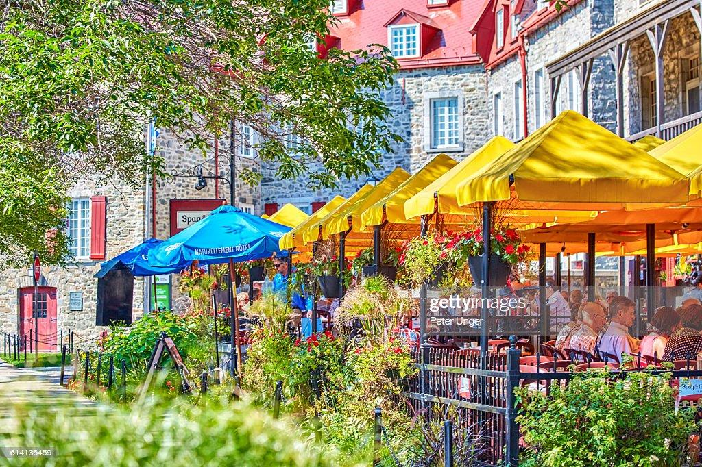 Restaurant In Old Quebec Cityquebec Stock Photo Getty Images