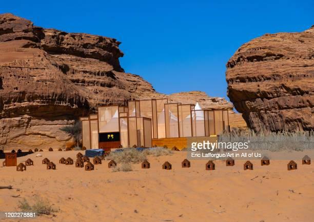 Restaurant in the middle of tombs in Madain Saleh for Tantora festival, Al Madinah Province, Alula, Saudi Arabia on December 28, 2019 in Alula, Saudi...