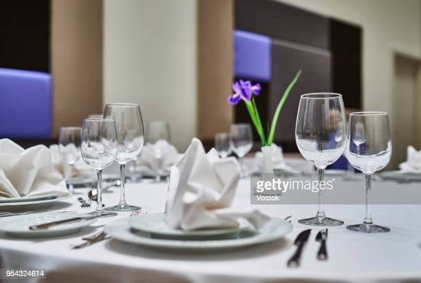 restaurant in the new hotel complex in moscow - gala stockfoto's en -beelden