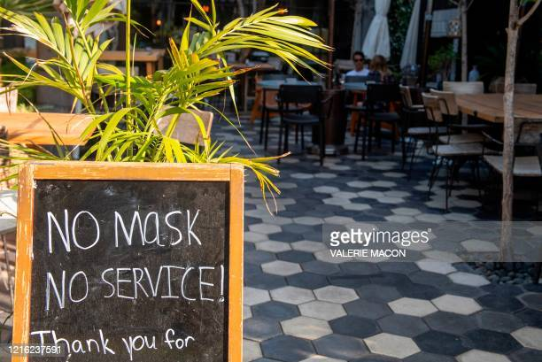 Restaurant in West Hollywood just re-openned, amid the Covid 19 pandemic, May 29 in West Hollywood, California. - Governor Gavin Newsom announced...