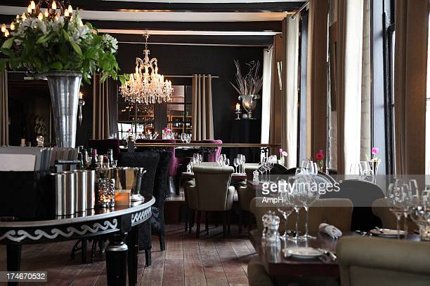 restaurant interior - fine dining stock pictures, royalty-free photos & images
