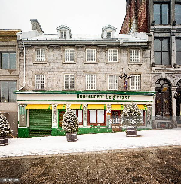 Restaurant Le fripon facade in Old Montreal