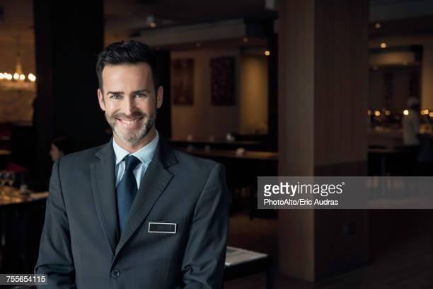 Restaurant manager, portrait
