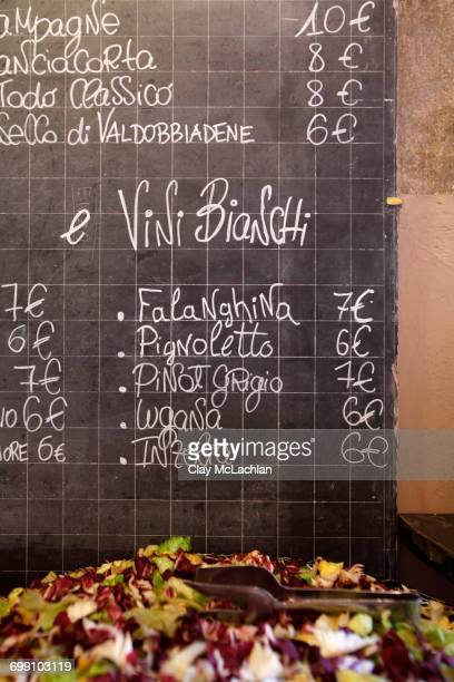 Restaurant Menu, Lessona, Piedmont, Italy