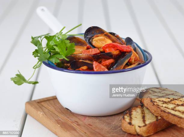 restaurant mussels - mussel stock pictures, royalty-free photos & images