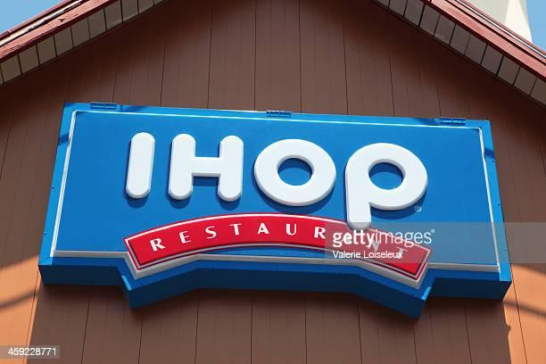 ihop restaurant neon sign - ihop stock pictures, royalty-free photos & images