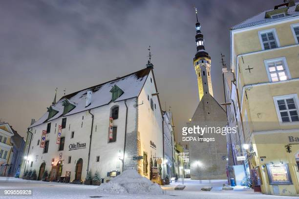 TOWN TALLINN HARJUMAA ESTONIA Restaurant Olde Hansa which is located in medieval house in the middle of Tallinn Old Town Tallinn Town Hall is also...