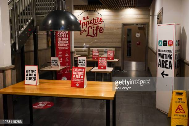 A restaurant on Linthorpe Road displays customer information on tables on October 02 2020 in Middlesbrough England The mayor of Middlesbrough Andy...
