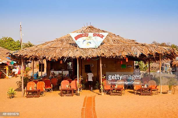 Restaurant on the beach Monico's Beach Shack Candolim Beach Candolim Bardez North Goa Goa India