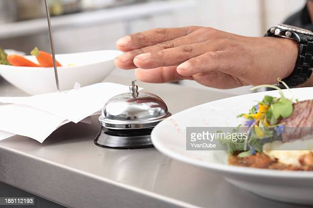 restaurant order ready to be served - bell stock pictures, royalty-free photos & images