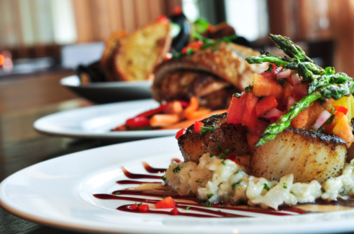Restaurant Plates 104704117