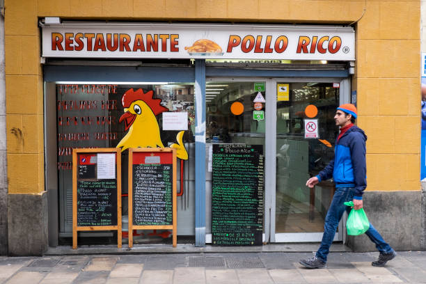 Restaurant Pollo Rico in Raval district, Barcelona