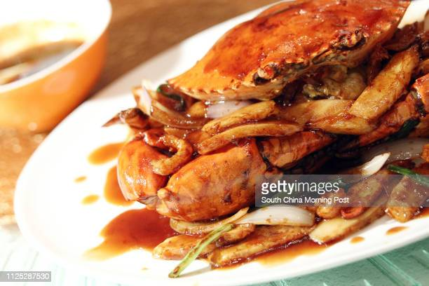 Restaurant Review Braised Crab with Chilli Paster and Rice Cake from New Shanghai 1/F Hong Kong Convention and Exhibition Centre 1 Harbour Road in...