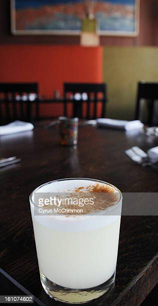 FE30FDLIMON_CM01 Restaurant review of Limn at 1618 E 17th Ave in Denver on Thursday July 24 2008 A house speciality the pisco sour It is made with...
