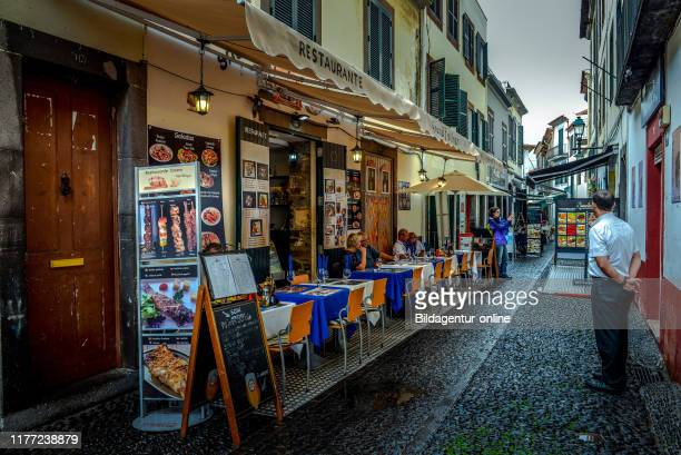 Restaurant, Rua de Santa Maria, Old Town, Funchal, Madeira, Portugal, Altstadt.