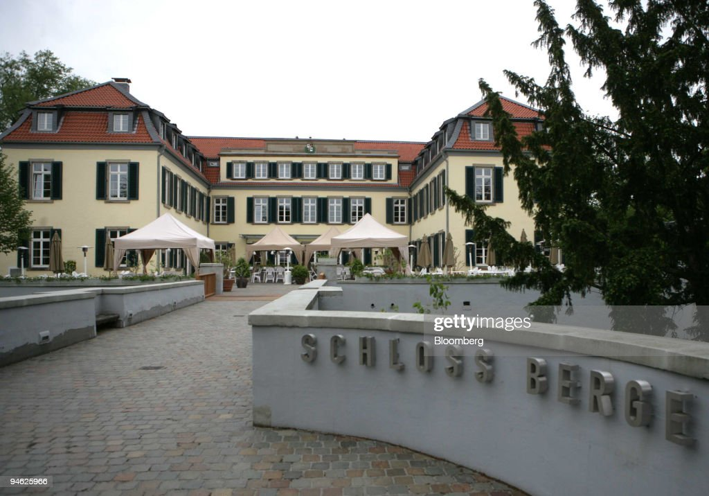 Restaurant Schloss Berge is seen in Gelsenkirchen, Germany, : News Photo