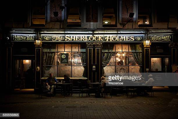 "restaurant ""sherlock holmes"" in london - sherlock holmes stock pictures, royalty-free photos & images"
