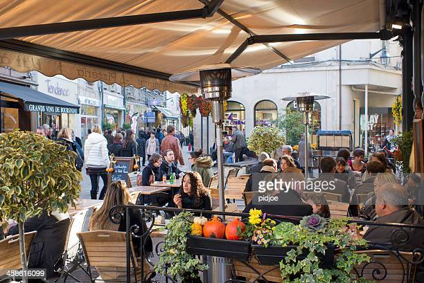 restaurant terrace on Place Carnot in Beaune France