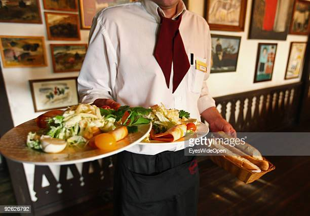 Restaurant Upirosmani visited by famous people like former statesman Gerhard Schroeder and Bill Clinton on October 14 2009 in Moscow Russia Moscow is...