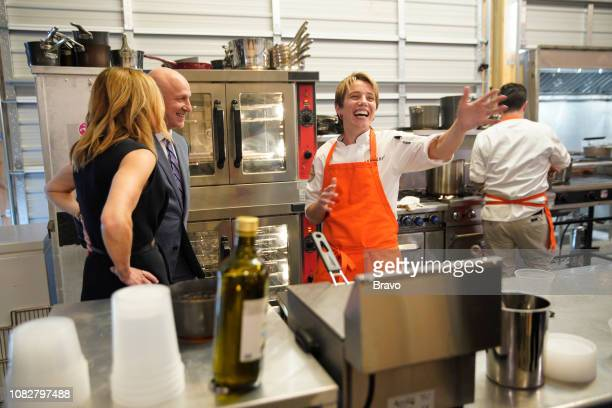 TOP CHEF 'Restaurant Wars Part 2' Episode 1605 Pictured Tom Colicchio Adrienne Wright