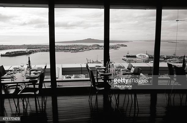 restaurant with panoramic view at scenery
