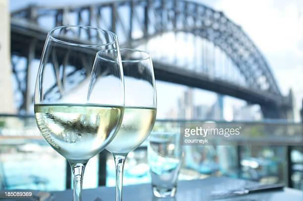 Restaurant with Sydney Harbour Bridge in the background