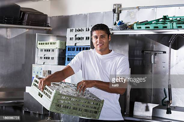 Restaurant worker in kitchen