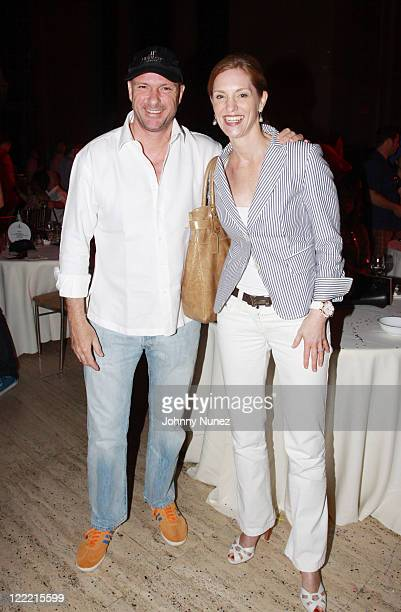 Restauranteur Giuseppe Cipriani and President of Hublot US and Latin America Beatrice de Quervain attend Cipriani Wall Street after the 2010 World...