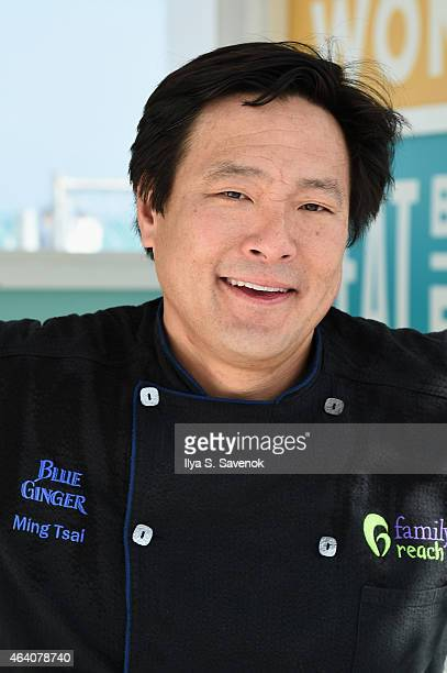 Restauranteur Ming Tsai attends the KitchenAid Culinary Demonstrations during the 2015 Food Network Cooking Channel South Beach Wine Food Festival...
