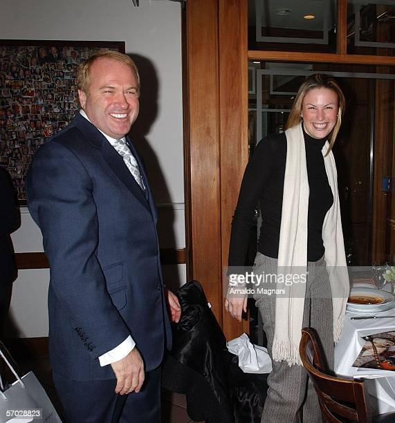 Restauranteur Nello Balan greets customer Sarah Howitt editorinchief of Entree magazine during lunch at his restaurant Nello's on March 8 2006 in New...