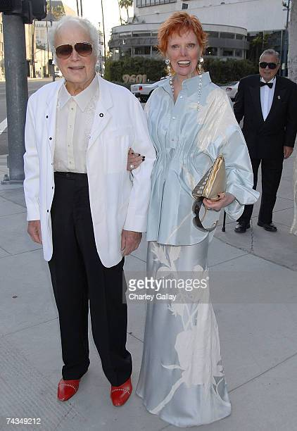 Restauranteurs Harry and Marilyn Lewis attend the City of Beverly Hills gala honoring fashion icon Fred Hayman on May 28 2007 in Los Angeles...