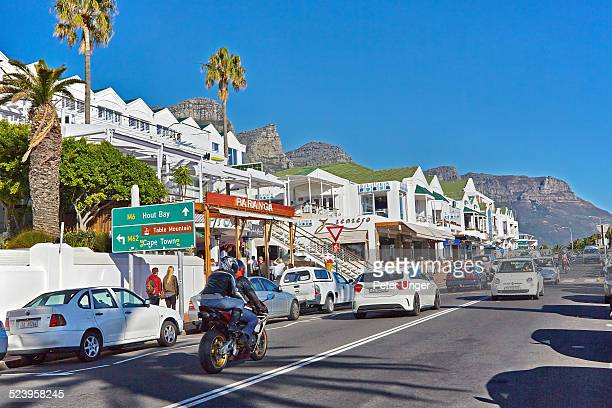 Restaurants and shops at Clifton beach, Camps Bay