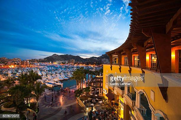 Restaurants and shops at the Marina in Cabo San Lucas
