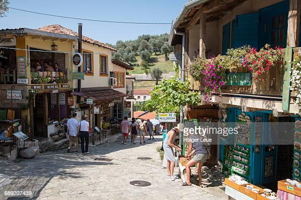 Restaurants and souvenir stands outside Stari Bar
