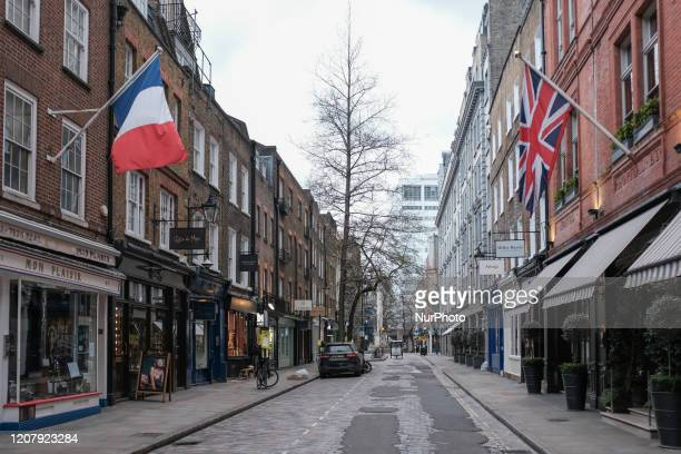 Restaurants are closed in the area of Covent Garden on March 20 2020 in London United Kingdom British Prime Minister Boris Johnson announced that the...