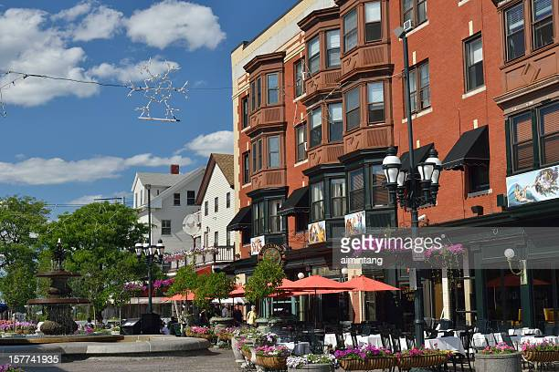 restaurants at federal hill in providence - providence rhode island stock photos and pictures