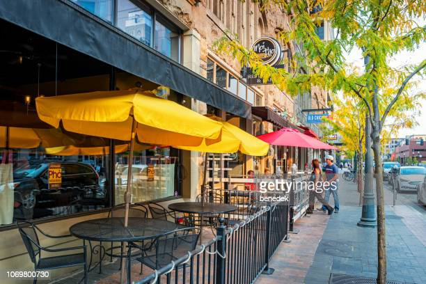 restaurants in downtown boise idaho usa - boise idaho stock pictures, royalty-free photos & images