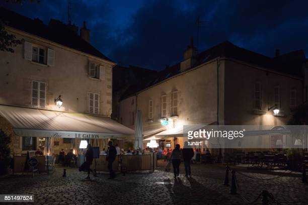 Restaurants in Square of Beaune, France