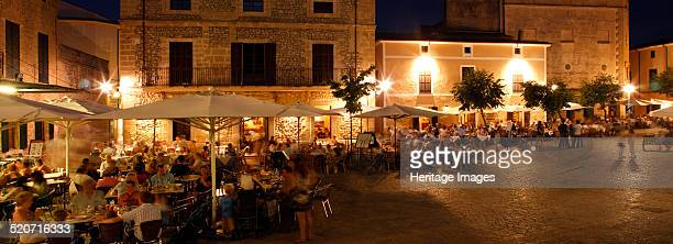 Restaurants in the Placa Major Pollensa Mallorca Spain