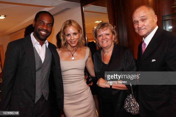 Restaurateur and club owner Unik Ernest actress Maria Bello President of Judith Leiber Mary Gleason and NYC Police Commisioner Ray Kelly attend...